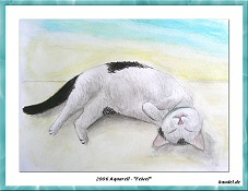 Aquarell - Kater Feivel